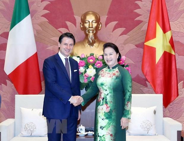 Chu tich Quoc hoi Nguyen Thi Kim Ngan hoi kien Thu tuong Italy hinh anh 1